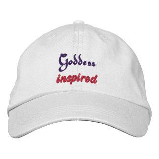 Goddess inspired embroidered baseball cap