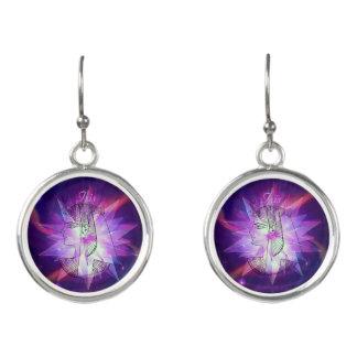 Goddess Isis Celestial Starburst Crystal! Earrings