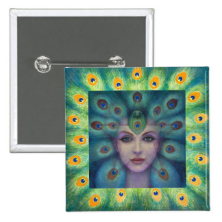 Goddess Isis the Seer 15 Cm Square Badge
