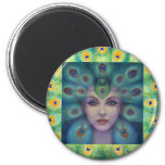 Goddess Isis the Seer 6 Cm Round Magnet