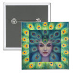 Goddess Isis the Seer Pinback Buttons