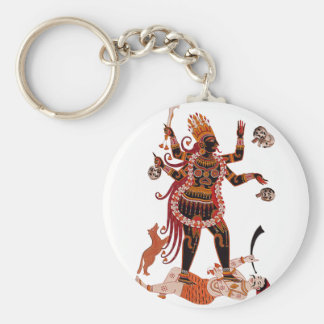 Goddess Kali Basic Round Button Key Ring