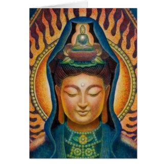 Goddess Kuan Yin's Flame Card
