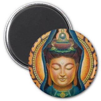 Goddess Kuan Yin's Flame Round Magnet