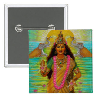 Goddess Lakshmi Pinback Buttons