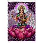 Goddess Lakshmi - Fortune greeting card