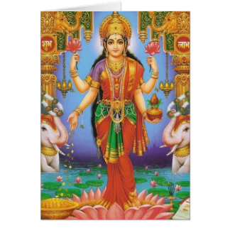 goddess-Lakshmi Greeting Card