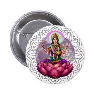 Goddess Lakshmi mandala 6 Cm Round Badge