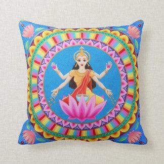 Goddess Lakshmi Mandala Throw Cushion