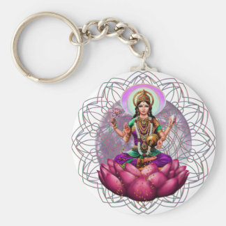 Goddess Lakshmi mandala Key Ring
