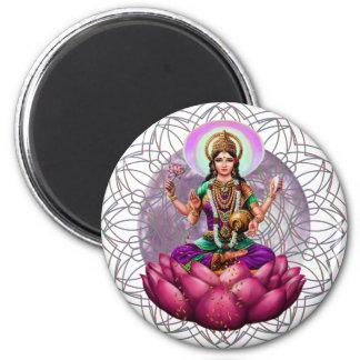 Goddess Lakshmi mandala Refrigerator Magnets