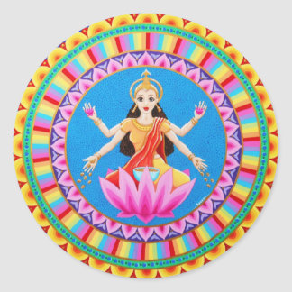 Goddess Lakshmi mandala Round Sticker