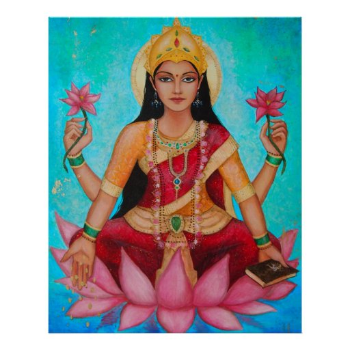 Goddess Lakshmi - Original art by Dori Hartley Poster
