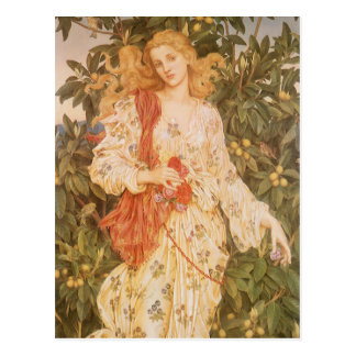 Goddess of Blossoms and Flowers, Flora by Morgan Postcard