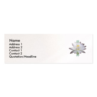 Goddess of Compassion Kanji Profile Card Pack Of Skinny Business Cards