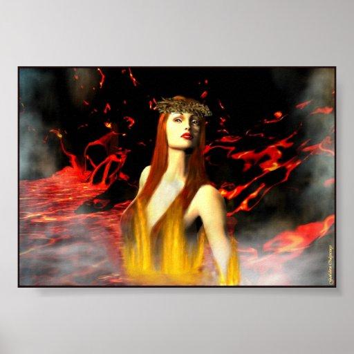 Goddess of Fire Print