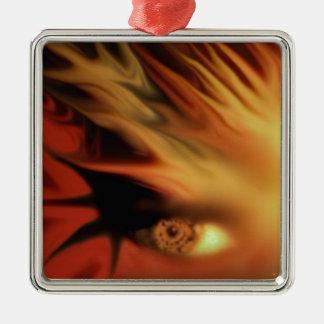 Goddess of fire Silver-Colored square decoration