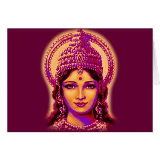 Goddess of Fortune - Lakshmi Greeting Card