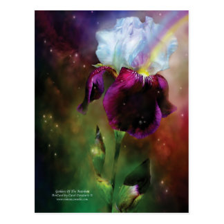 Goddess Of The Rainbow Art Postcard
