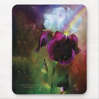 Goddess Of The Rainbow Iris Mousepad
