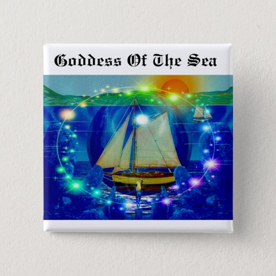Goddess Of The Sea 15 Cm Square Badge
