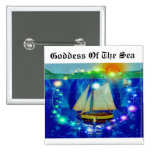 Goddess Of The Sea Pinback Button