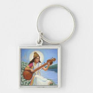 Goddess Sarasvati Key Ring