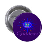 Goddess Sun and Stars 6 Cm Round Badge