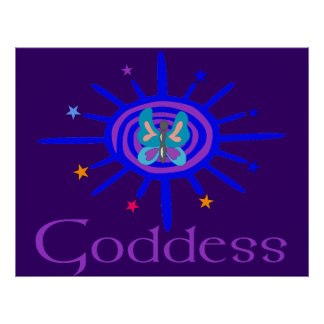 Goddess Sun and Stars Posters