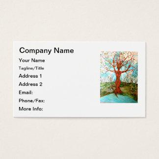 Goddess Tree Figure in Autumn Spiritual Painting Business Card