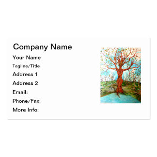 Goddess Tree Figure in Autumn Spiritual Painting Pack Of Standard Business Cards