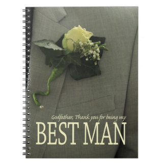 Godfather best man thank you spiral notebook