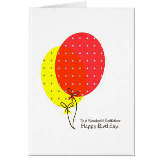 Godfather Birthday Cards, Big Colourful Balloons Card
