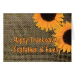 Godfather & Family Thanksgiving Card