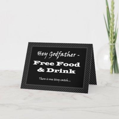 GODFATHER Funny Wedding Invitation Free Food Drink by JaclinArt