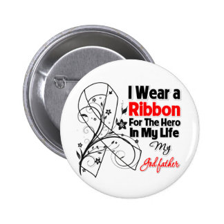 Godfather Hero in My Life Lung Cancer 6 Cm Round Badge