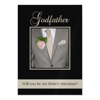 Godfather  Please be bride's attendant Magnetic Invitations