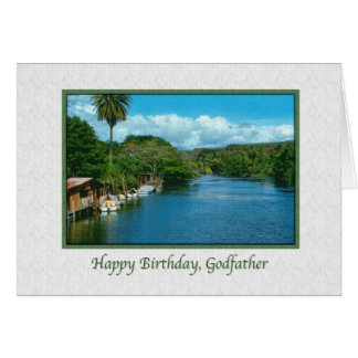 Godfather's Birthday Card with Hawaiian River