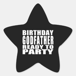 Godfathers : Birthday Godfather Ready to Party Sticker