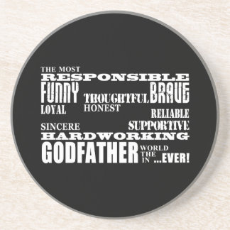 Godfathers Birthdays & Christmas : Qualities Beverage Coasters