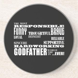 Godfathers Birthdays Christmas Qualities Beverage Coasters
