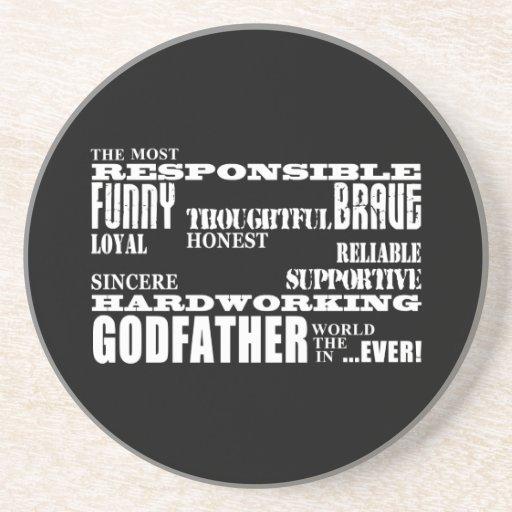 Godfathers Birthdays & Christmas : Qualities Beverage Coasters