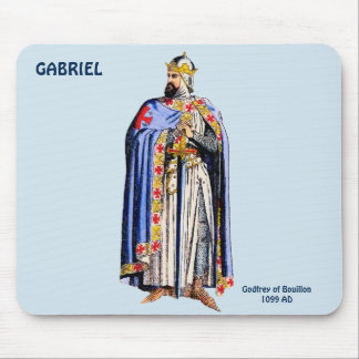 Godfrey Bouillon Costume~Personalised for GABRIEL~ Mouse Mat