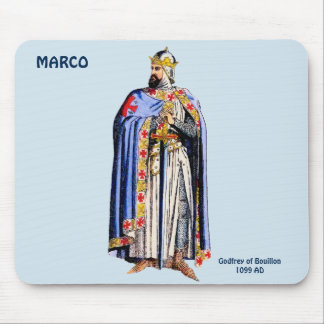 Godfrey Bouillon Costume~Personalised for MARCO ~ Mouse Mat