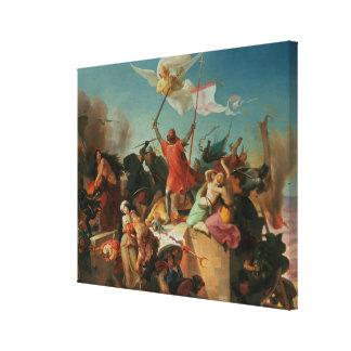 Godfrey de Bouillon, French Crusader Canvas Print