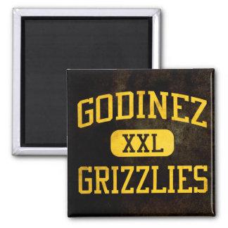Godinez Grizzlies Athletics Square Magnet