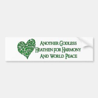 Godless For World Peace Car Bumper Sticker