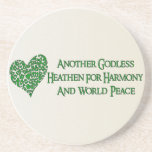 Godless For World Peace Coasters