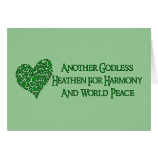 Godless For World Peace Greeting Card