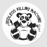 GODLESS KILLING MACHINE PANDA STICKER